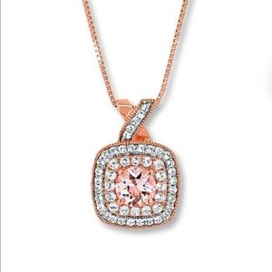 Jewelry - Morganite rose gold necklace